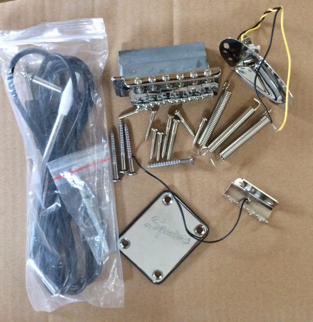 Stratocaster Type Tremolo Bridge Assembly Complete With Arm